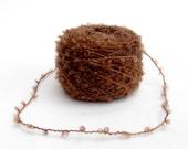 Hand dyed boucle Yarn 100% wool - dark brown - perfect for waldorf doll hair, knitting, crochet animals