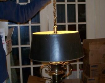 Vintage Brass Pendant Light 1970s/Gift/Lighting/Lamps/Vintage Decor/Chandelier/Swag/Aladdin/Gifts/Antique Brass Finish/Lamp/Brass/Lights