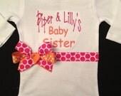 Baby Sister Monogrammed Onesie ...Bodysuit  for BaBy GiRl