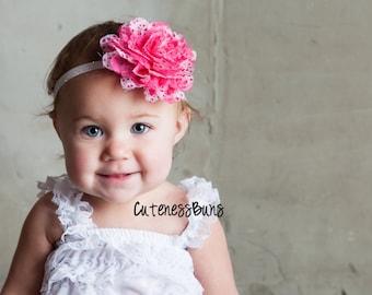 15% OFF.Baby Headbands, Valentines Headband, Baby Girl Headband, Baby Headband, Infant Headband, Headband, Pink Head band, Valentines Bow
