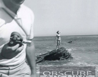BEACH MOVIE - All right Mr. DeMille, I'm ready for my close up… Unusual photo from the 1960s - Bizarre Photograph