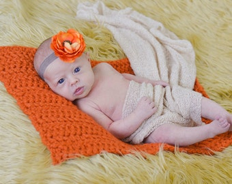 Baby Blanket Orange Pumpkin Baby Blanket Orange Baby Blanket Newborn Photo Prop Newborn Blanket Baby Girl Blanket Baby Boy Blanket Layering