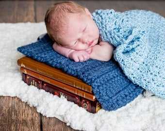 Baby Blanket Denim Blue Baby Blanket Denim Baby Blanket Newborn Baby Blanket Newborn Photo Prop Photography Prop Baby Boy Photo Shoot Soft