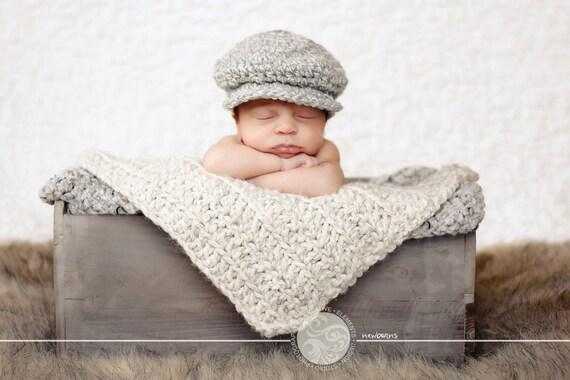 Premature Baby Gifts Ireland : Newborn baby boy hat irish donegal cap gray cream