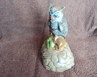 Cute vintage hand painted owl