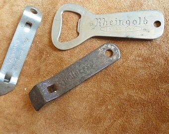 Vintage Bottle Can Openers, Vintage Advertising, Set of 3