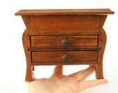 Vintage wooden miniature, tiny furniture with drawers, jewelry box c.1960s/1979s