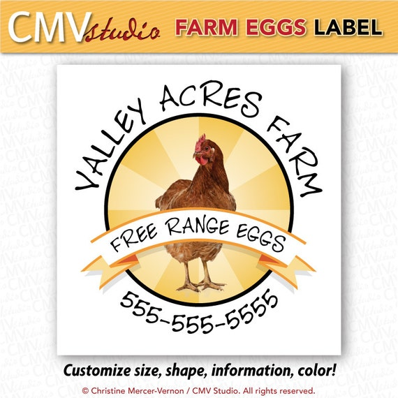 Printable egg carton labels by cmvstudio on etsy for Design your own egg boxes