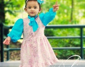 NELIA Top & Dress PDF Pattern by Popolok Design - 8 Sizes Girl Age 1 to 8