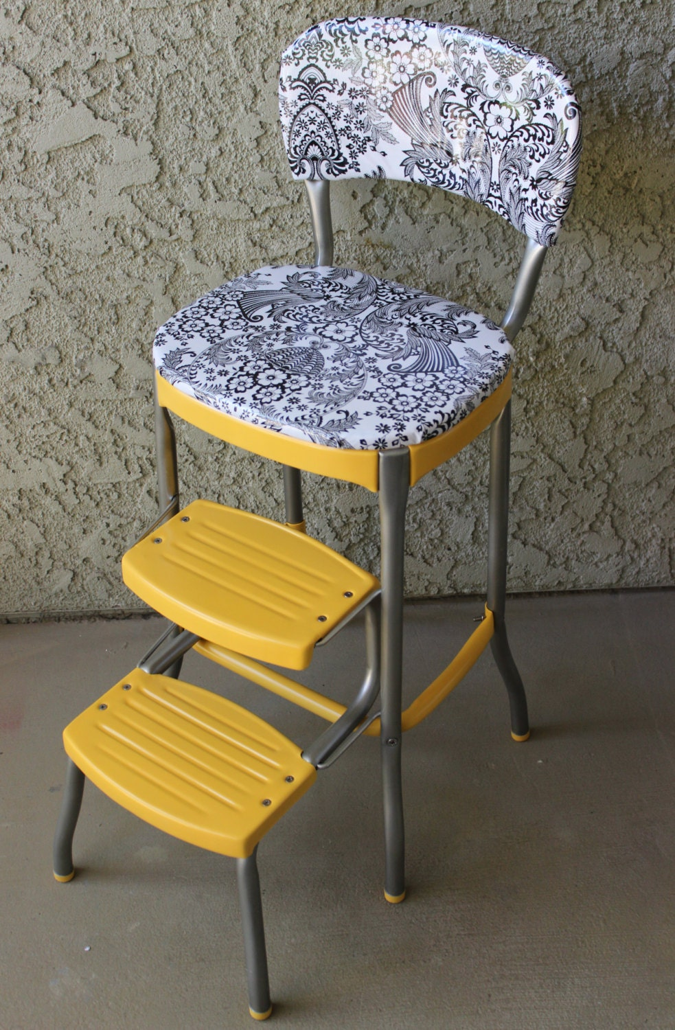 Vintage 1950 S Yellow Cosco Step Stool