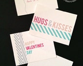 50% OFF Aqua Valentine Love Notes with FREE printable envelope Instant Download DIY Printable Page