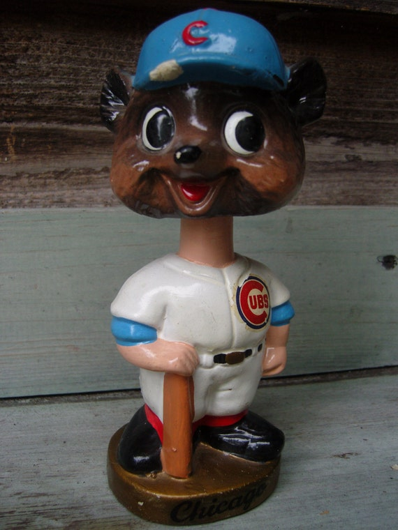 Antique Cubs Bobblehead vintage sports by TheMixMatchedMutt