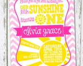 You Are My Sunshine Invitation