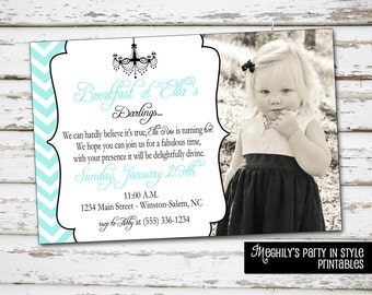 Breakfast at Tiffany's Invitation with photo