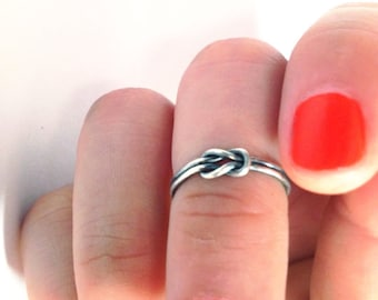 reef knot ring // sterling silver or gold fill