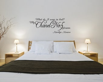 Marilyn Monroe Chanel No.5 Quote Vinyl Wall Window Decal Sticker (J200)