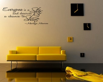 Everyone is a Star Motivation Wall Decal Quote Sticker Vinyl Art Lettering (J275)
