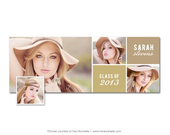 Facebook Timeline Cover Senior Graduation Photoshop Template