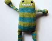 Handmade Knit Striped Monster