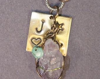Amethyst, Turquoise, Joy Necklace