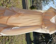 Wedding Dress Boho Wedding Dress Hippie Wedding Dress Gunne Sax Dress Wedding Gown Costume Movie Photo Prop