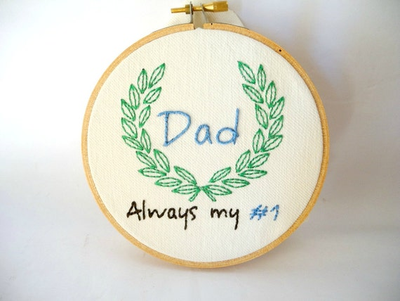 Father s day gift dad embroidery hoop wall art for