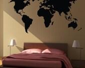 World Map Wall Decal Sticker World Country Atlas the whole world Vinyl Art