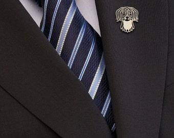 Kooikerhondje brooch - sterling silver