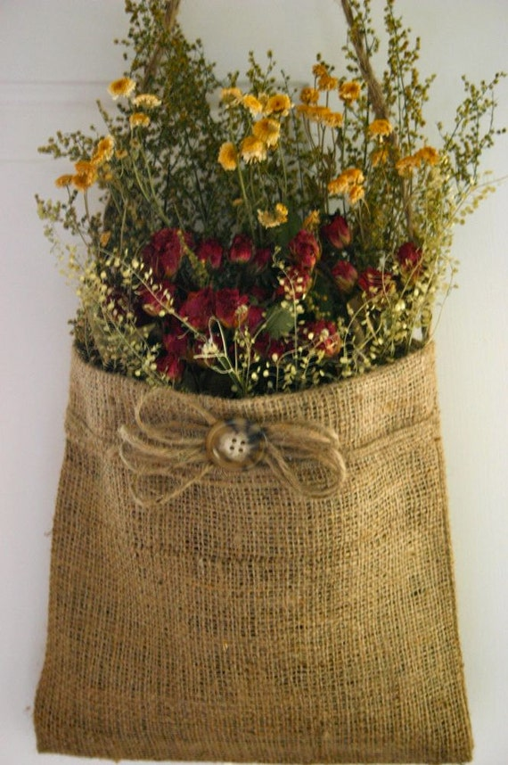 Items Similar To Handmade Dried Flower Arrangement In