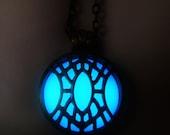 Dwemer Artifact - Dwarven Relic - Elder Scrolls Inspired - Morrowind - Oblivion - Skyrim - Glow in the Dark - Glow - Glowing - Glow Locket