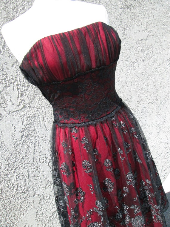 "Stunning Goth Type Rocker Prom/ Party Dress- ""Rock Lobster"""