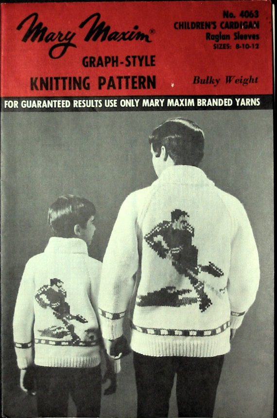 Graph Style Knitting Pattern : Vintage 1960s Mary Maxim No 4063 Graph Style by AlwaysMoreRoom