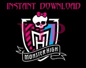 Monster High Birthday Party Cupcake Toppers