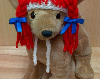 Rag doll dog hat - for small breed chihuahua / yorkie -