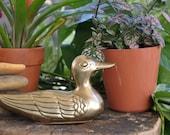 Vintage decorative brass duck
