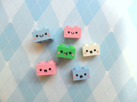 Cute Recycled Toy Magnets Building Bricks Magnets Kawaii Magnets