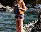 Tribal Aztec Print Mini Skirt