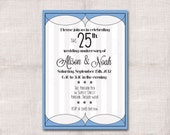 Wedding Anniversary  Invitation Custom Printable 5x7