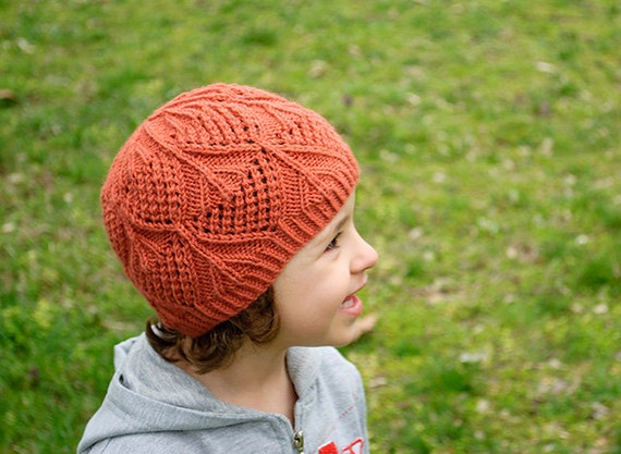 Knitting Pattern For Lace Baby Hat : PDF KNITTING PATTERN Hat Lace Baby Toddler