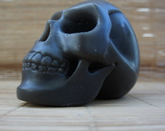 Skull candle - black - halloween decoration