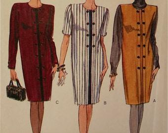 """Dress & Jumper - 1990's - Vogue Options Pattern 7905  Uncut  Sizes 12-14-16  Bust 34-36-38"""""""