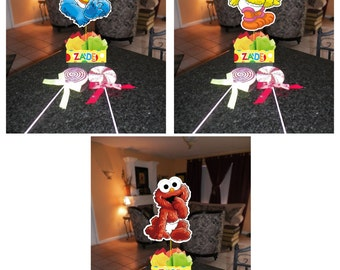 "DIY 12"" Small Baby Sesame Street Birthday Party Centerpieces FREE KIT 1st Birthday Mitzvah Baby Shower Centerpiece Elmo Cookie Monster"