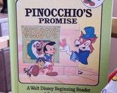 "Vintage 1980s Children's Book-- Walt Disney's ""Pinocchio's Promise"""