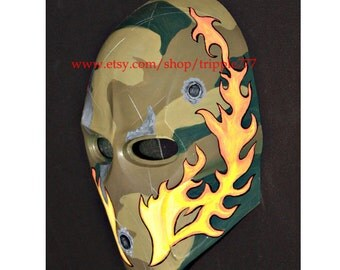 Army of two Airsoft Paintball BB Gun Prop Helmet Salem Costume Cosplay Goggle Mask Maske Masque 40th days MA74 et