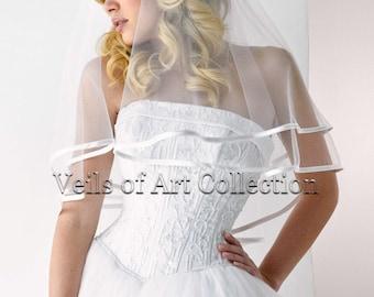 Designer Classic Bridal Elbow Length 2 Tier Veil Style VE151