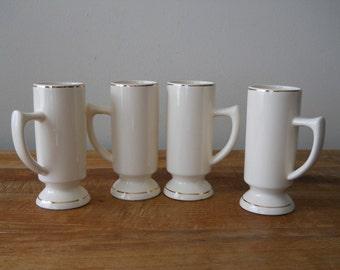 Tall Cream Irish Coffee Mugs