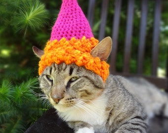 Pet Party Hat, Pet Birthday Hat, Party Hat for Cats, Cat Birthday Hat, Birthday Cat Hat, Birthday Dog Hat - CUSTOM COLORS