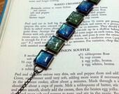 "Glitter Polish Bracelet-- ""Double Nerd Crush"" on Antique Bronze"