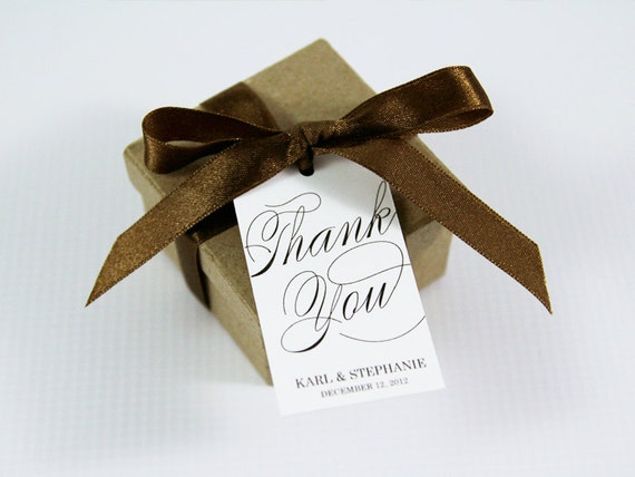 Thank You Tag - MEDIUM Size - Wedding Favor Tag - Custom Tag - 36 Pieces