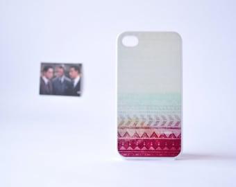 Aztec iPhone 4 Case - Aztec iPhone 4s Case - Geometric iPhone 4 Case - iPhone 5/5s Case - Aztec Pattern over Beach Print